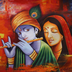 the divine radha krishna-02, 36 x 24 inch, pramod  kumar,36x24inch,canvas,paintings,abstract paintings,figurative paintings,religious paintings,radha krishna paintings,love paintings,paintings for dining room,paintings for living room,paintings for bedroom,paintings for office,paintings for kids room,paintings for hotel,paintings for kitchen,paintings for school,paintings for hospital,acrylic color,GAL02078840779