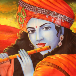 lord krishna playing flute-01, 36 x 24 inch, pramod  kumar,36x24inch,canvas,paintings,abstract paintings,religious paintings,radha krishna paintings,paintings for dining room,paintings for living room,paintings for bedroom,paintings for office,paintings for kids room,paintings for hotel,paintings for kitchen,paintings for school,paintings for hospital,acrylic color,GAL02078840782