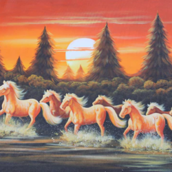 7 horses runing on water, 36 x 24 inch, pramod  kumar,36x24inch,canvas,paintings,wildlife paintings,cityscape paintings,landscape paintings,animal paintings,horse paintings,paintings for dining room,paintings for living room,paintings for bedroom,paintings for office,paintings for bathroom,paintings for kids room,paintings for hotel,paintings for kitchen,paintings for school,paintings for hospital,acrylic color,GAL02078840788