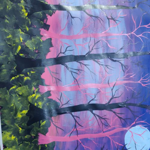 trees jungle, 30 x 22 inch, arvind kumar gupta,30x22inch,cartridge paper,paintings,abstract paintings,conceptual paintings,nature paintings | scenery paintings,abstract expressionism paintings,realism paintings,paintings for dining room,paintings for living room,paintings for bedroom,paintings for office,paintings for kids room,paintings for hotel,paintings for kitchen,paintings for school,paintings for hospital,acrylic color,paper,GAL02596640791