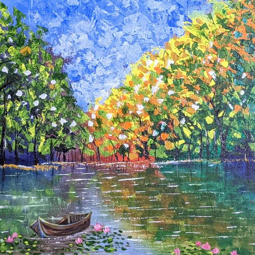 the boat , 20 x 16 inch, krishna ghosh,20x16inch,canvas,paintings,abstract paintings,landscape paintings,conceptual paintings,nature paintings | scenery paintings,abstract expressionism paintings,contemporary paintings,paintings for dining room,paintings for living room,paintings for bedroom,paintings for office,paintings for hotel,paintings for school,paintings for hospital,acrylic color,GAL02828840807