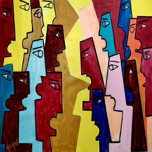 human voice, 40 x 30 inch, anand manchiraju,40x30inch,canvas,paintings,abstract paintings,paintings for living room,paintings for office,acrylic color,GAL01254040811