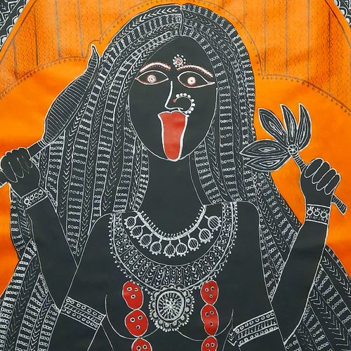 goddess kali part 1, 24 x 36 inch, lakshmi menon,24x36inch,canvas,folk art paintings,modern art paintings,religious paintings,contemporary paintings,madhubani paintings   madhubani art,paintings for dining room,paintings for living room,paintings for office,paintings for hotel,paintings for hospital,paintings for dining room,paintings for living room,paintings for office,paintings for hotel,paintings for hospital,acrylic color,natural color,pen color,ball point pen,GAL02888740817