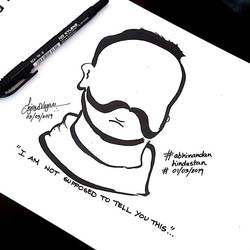 indian air force abhinandan, 11 x 8 inch, tejas vazare,11x8inch,paper,minimalist drawings,pen color,GAL02879440825