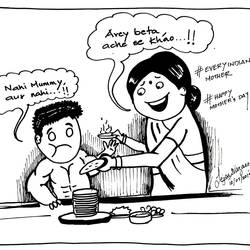 mother's menu - gift your mother a special sketch, 11 x 8 inch, tejas vazare,11x8inch,paper,figurative drawings,fine art drawings,impressionist drawings,pen color,GAL02879440827
