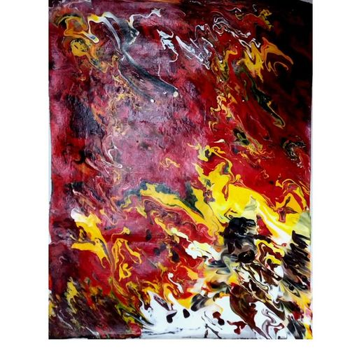 nebula, 20 x 15 inch, atharv wahal,20x15inch,canvas,abstract paintings,acrylic color,GAL02877740855