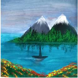 picture perfect, 12 x 12 inch, atharv wahal,12x12inch,thick paper,paintings,landscape paintings,nature paintings | scenery paintings,paintings for dining room,paintings for bedroom,paintings for office,paintings for hotel,watercolor,GAL02877740857