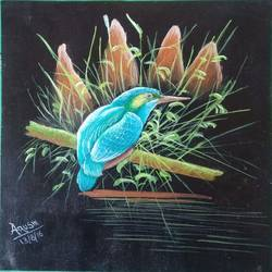 kingfisher, 9 x 8 inch, arushi  gupta ,9x8inch,canvas,paintings,wildlife paintings,paintings for dining room,paintings for living room,paintings for bedroom,paintings for dining room,paintings for living room,paintings for bedroom,acrylic color,GAL02892440874