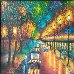 city road, 23 x 18 inch, arushi  gupta ,23x18inch,canvas,cityscape paintings,paintings for dining room,paintings for living room,paintings for bedroom,paintings for office,paintings for dining room,paintings for living room,paintings for bedroom,paintings for office,acrylic color,GAL02892440875
