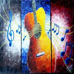 guitar, 16 x 9 inch, arushi  gupta ,16x9inch,canvas,modern art paintings,paintings for dining room,paintings for living room,paintings for bedroom,paintings for office,paintings for dining room,paintings for living room,paintings for bedroom,paintings for office,acrylic color,GAL02892440881