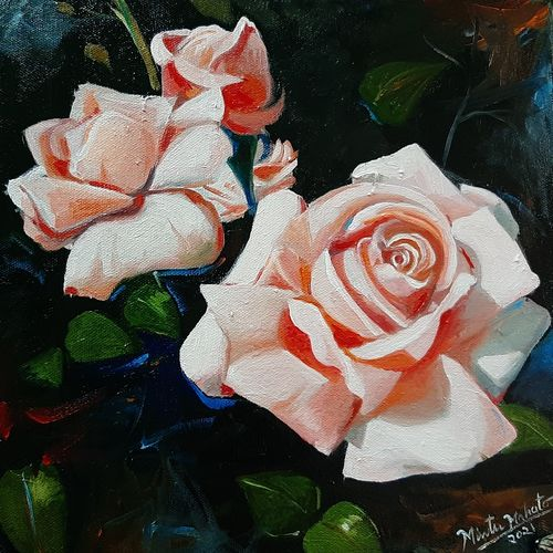 roses , 12 x 12 inch, mintu kumar  mahato ,12x12inch,canvas,paintings,flower paintings,paintings for dining room,paintings for living room,paintings for bedroom,paintings for office,paintings for kids room,paintings for hotel,paintings for school,paintings for hospital,oil color,GAL02811440882