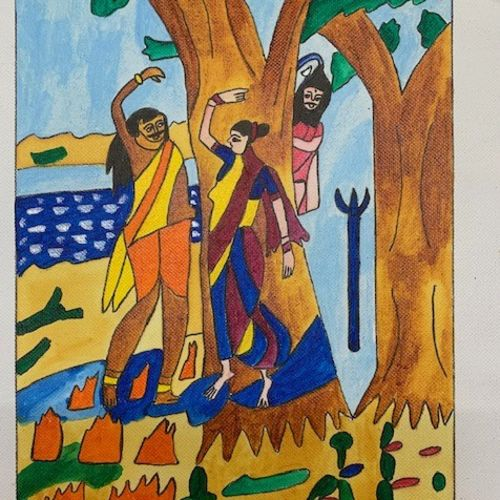 shivji mohini bhasmasura, 12 x 10 inch, adarsh daga,12x10inch,canvas,paintings,abstract paintings,figurative paintings,conceptual paintings,religious paintings,nature paintings | scenery paintings,lord shiva paintings,paintings for dining room,paintings for living room,paintings for bedroom,paintings for office,paintings for kids room,paintings for hotel,paintings for kitchen,paintings for school,paintings for hospital,paintings for dining room,paintings for living room,paintings for bedroom,paintings for office,paintings for kids room,paintings for hotel,paintings for kitchen,paintings for school,paintings for hospital,acrylic color,GAL02891540884