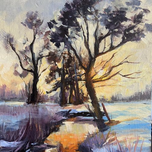 reflection , 9 x 12 inch, vinita sadarangani,9x12inch,canvas,paintings,landscape paintings,nature paintings | scenery paintings,realistic paintings,paintings for dining room,paintings for living room,paintings for bedroom,paintings for office,paintings for hotel,acrylic color,GAL02885140902