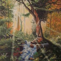 glazing rays, 24 x 36 inch, md moin ,24x36inch,canvas,paintings,nature paintings | scenery paintings,paintings for living room,paintings for bedroom,paintings for office,paintings for hotel,acrylic color,GAL01096040909
