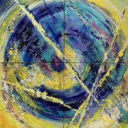 eye of the tiger, 18 x 24 inch, priti desai,wildlife paintings,paintings for living room,canvas,oil,18x24inch,GAL014604091