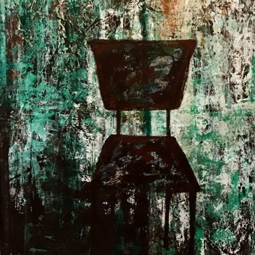 empty chair, 35 x 47 inch, saira biju,35x47inch,canvas,paintings,abstract paintings,still life paintings,abstract expressionism paintings,illustration paintings,contemporary paintings,paintings for dining room,paintings for living room,paintings for bedroom,paintings for office,paintings for kids room,paintings for hotel,acrylic color,GAL02894540929