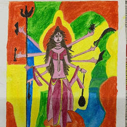 maa parvati, 8 x 6 inch, adarsh daga,8x6inch,canvas,paintings,abstract paintings,figurative paintings,conceptual paintings,religious paintings,abstract expressionism paintings,expressionism paintings,paintings for dining room,paintings for living room,paintings for bedroom,paintings for office,paintings for kids room,paintings for hotel,paintings for kitchen,paintings for school,paintings for hospital,acrylic color,GAL02891540941