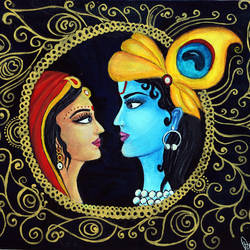 radha krishna original canvas painting, 14 x 12 inch, swati sharma,14x12inch,canvas,paintings,modern art paintings,religious paintings,radha krishna paintings,love paintings,paintings for dining room,paintings for living room,paintings for bedroom,paintings for office,paintings for kids room,paintings for hotel,paintings for kitchen,paintings for school,paintings for hospital,acrylic color,GAL02535940954