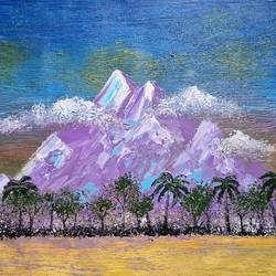 mountain rhapsody, 17 x 14 inch, esther sandhya a,17x14inch,canvas,paintings,abstract paintings,landscape paintings,nature paintings | scenery paintings,art deco paintings,contemporary paintings,paintings for dining room,paintings for living room,paintings for bedroom,paintings for office,paintings for bathroom,paintings for kids room,paintings for hotel,paintings for kitchen,paintings for school,paintings for hospital,acrylic color,GAL0166340965