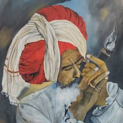 chillam, 18 x 24 inch, manjoo kiraan,18x24inch,canvas,paintings,portrait paintings,paintings for living room,paintings for hotel,oil color,GAL02884640967