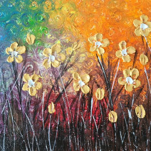 golden flowers, 14 x 11 inch, esther sandhya a,14x11inch,canvas,paintings,abstract paintings,flower paintings,landscape paintings,modern art paintings,nature paintings | scenery paintings,art deco paintings,contemporary paintings,paintings for dining room,paintings for living room,paintings for bedroom,paintings for office,paintings for bathroom,paintings for kids room,paintings for hotel,paintings for kitchen,paintings for school,paintings for hospital,acrylic color,GAL0166340980