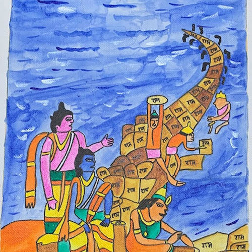 ram setu, 10 x 8 inch, adarsh daga,10x8inch,canvas,paintings,abstract paintings,figurative paintings,landscape paintings,modern art paintings,conceptual paintings,religious paintings,nature paintings | scenery paintings,expressionism paintings,illustration paintings,realism paintings,realistic paintings,paintings for dining room,paintings for living room,paintings for bedroom,paintings for office,paintings for kids room,paintings for hotel,paintings for kitchen,paintings for school,paintings for hospital,acrylic color,GAL02891540984