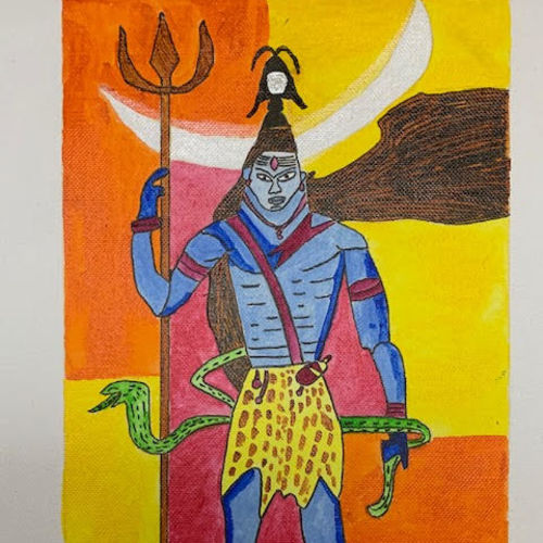 lord shiv, 12 x 10 inch, adarsh daga,12x10inch,canvas,paintings,abstract paintings,figurative paintings,modern art paintings,conceptual paintings,religious paintings,expressionism paintings,photorealism,portraiture,realism paintings,contemporary paintings,lord shiva paintings,paintings for dining room,paintings for living room,paintings for bedroom,paintings for office,paintings for kids room,paintings for hotel,paintings for kitchen,paintings for school,paintings for hospital,acrylic color,GAL02891540987