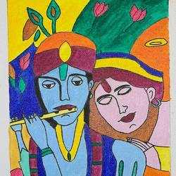 radha krishna, 12 x 10 inch, adarsh daga,12x10inch,canvas,paintings,figurative paintings,religious paintings,portrait paintings,expressionism paintings,photorealism,realism paintings,radha krishna paintings,realistic paintings,paintings for dining room,paintings for living room,paintings for bedroom,paintings for office,paintings for kids room,paintings for hotel,paintings for kitchen,paintings for school,paintings for hospital,acrylic color,GAL02891540989