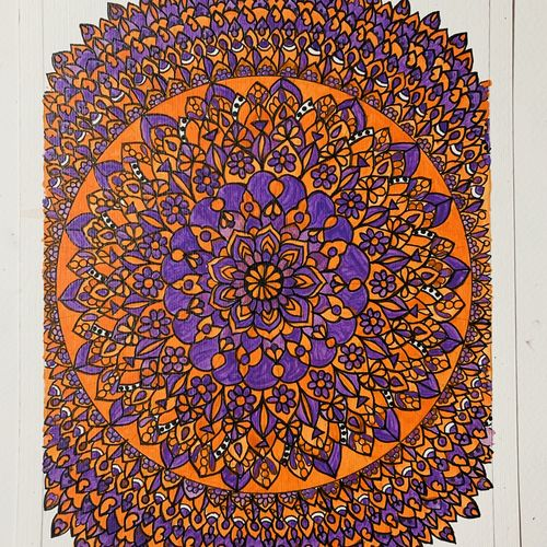 mandala artwork , 8 x 11 inch, supriya  krishnan ,8x11inch,thick paper,drawings,art deco drawings,fine art drawings,paintings for dining room,paintings for living room,paintings for bedroom,paintings for office,paintings for bathroom,paintings for hotel,acrylic color,GAL02686640996