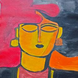 beautiful figurative paintings on canvas, 12 x 16 inch, debina  varghese,12x16inch,canvas,abstract paintings,paintings for living room,paintings for office,paintings for hotel,paintings for living room,paintings for office,paintings for hotel,acrylic color,GAL02896841001