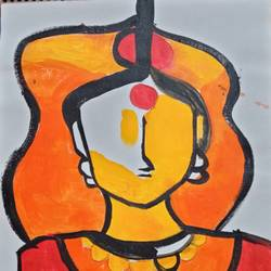 figurative paintings on canvas, 12 x 16 inch, debina  varghese,12x16inch,canvas,paintings,abstract paintings,paintings for bathroom,acrylic color,GAL02896841002