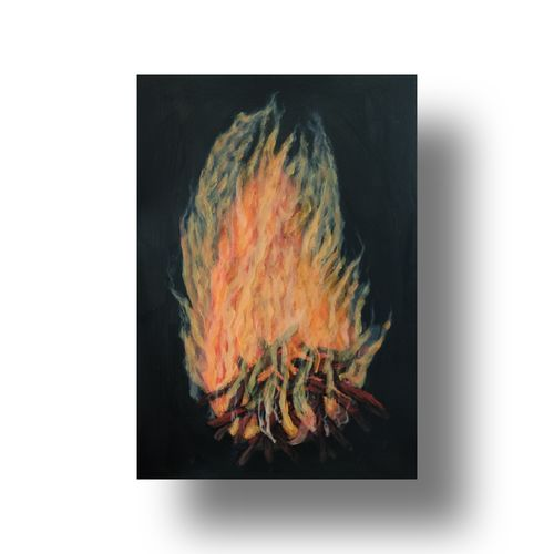 fire, 8 x 12 inch, gitika singh,8x12inch,thick paper,paintings,still life paintings,illustration paintings,paintings for dining room,paintings for living room,paintings for bedroom,paintings for office,paintings for kitchen,paintings for school,paintings for hospital,acrylic color,paper,GAL01865441025