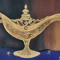 aladin lamp , 19 x 13 inch, bency varghese,19x13inch,canvas,paintings,still life paintings,art deco paintings,illustration paintings,paintings for living room,paintings for bedroom,paintings for office,paintings for hotel,paintings for living room,paintings for bedroom,paintings for office,paintings for hotel,acrylic color,GAL02855741026