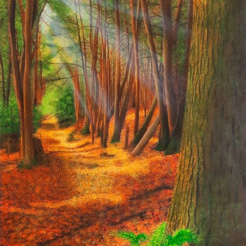 walk in the woods, 18 x 25 inch, sneha petkar,18x25inch,canvas,landscape paintings,nature paintings | scenery paintings,photorealism paintings,photorealism,realistic paintings,paintings for dining room,paintings for living room,paintings for bedroom,paintings for office,paintings for school,paintings for hospital,paintings for dining room,paintings for living room,paintings for bedroom,paintings for office,paintings for school,paintings for hospital,acrylic color,GAL02902141033
