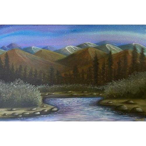 mountains and river side forest colorful peaceful landscape beautiful , 36 x 24 inch, gaurangi gupta,36x24inch,canvas,paintings,landscape paintings,nature paintings | scenery paintings,art deco paintings,photorealism,realism paintings,paintings for dining room,paintings for living room,paintings for bedroom,paintings for office,paintings for bathroom,paintings for kids room,paintings for hotel,paintings for kitchen,paintings for school,paintings for hospital,acrylic color,GAL02814641052
