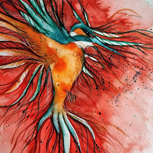 bird - kingfisher, 16 x 11 inch, mansi saxena,16x11inch,thick paper,paintings,wildlife paintings,figurative paintings,paintings for dining room,paintings for living room,paintings for bedroom,paintings for office,paintings for bathroom,paintings for kids room,paintings for hotel,watercolor,GAL0766941078