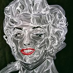 abstract art: portrait of marilyn monroe , 12 x 14 inch, srimonti dutta,12x14inch,thick paper,drawings,abstract drawings,art deco drawings,figurative drawings,modern drawings,portrait drawings,paintings for living room,paintings for bedroom,paintings for office,paintings for hotel,paintings for hospital,acrylic color,pen color,GAL02833841085