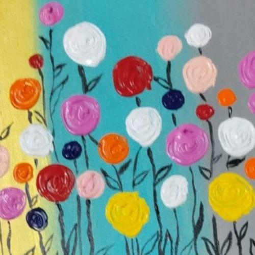 poppies garden, 16 x 12 inch, rupal chaturvedi,16x12inch,canvas,paintings,abstract paintings,nature paintings | scenery paintings,art deco paintings,paintings for dining room,paintings for living room,paintings for bedroom,paintings for office,paintings for hotel,paintings for dining room,paintings for living room,paintings for bedroom,paintings for office,paintings for hotel,acrylic color,GAL02907641086