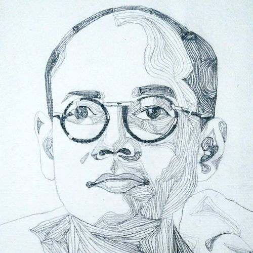 portrait of netaji, 13 x 18 inch, srimonti dutta,13x18inch,handmade paper,paintings for living room,paintings for bedroom,paintings for office,paintings for hotel,paintings for school,paintings for hospital,abstract drawings,art deco drawings,figurative drawings,fine art drawings,modern drawings,portrait drawings,paintings for living room,paintings for bedroom,paintings for office,paintings for hotel,paintings for school,paintings for hospital,graphite pencil,GAL02833841088