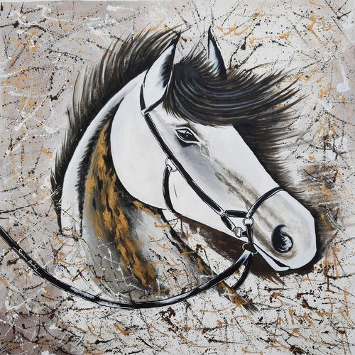 the horse- a spirit of victory, 28 x 28 inch, srinu badri,28x28inch,canvas,paintings,abstract paintings,modern art paintings,nature paintings | scenery paintings,horse paintings,paintings for living room,paintings for bedroom,paintings for office,paintings for hotel,acrylic color,GAL01289941091