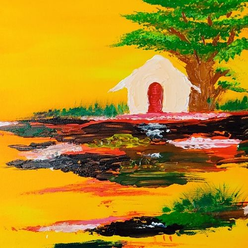 lanscape, 16 x 12 inch, rupal chaturvedi,16x12inch,canvas,paintings,abstract paintings,landscape paintings,paintings for living room,acrylic color,GAL02907641092