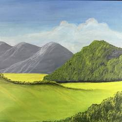 morning glory , 24 x 18 inch, kumar s,24x18inch,canvas,paintings,landscape paintings,paintings for living room,paintings for office,paintings for kids room,paintings for hospital,acrylic color,GAL02908341112