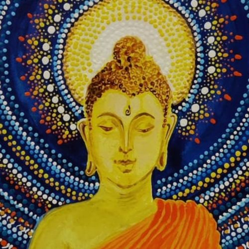lord buddha, 11 x 15 inch, kashmira jaorewalla,11x15inch,canvas,paintings,buddha paintings,paintings for dining room,paintings for living room,paintings for bedroom,paintings for office,paintings for kids room,paintings for hotel,acrylic color,GAL02909041139