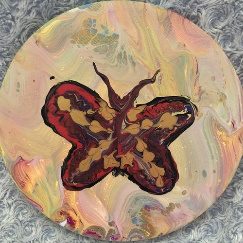 the butterfly - insect series, 9 x 9 inch, isabella  rao,9x9inch,canvas,modern art paintings,paintings for dining room,paintings for living room,paintings for bedroom,paintings for dining room,paintings for living room,paintings for bedroom,acrylic color,GAL02649541143