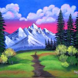 paradise on earth, 24 x 20 inch, sai amale ,24x20inch,canvas,paintings,landscape paintings,paintings for dining room,paintings for living room,paintings for bedroom,paintings for office,paintings for hotel,acrylic color,GAL02904141153