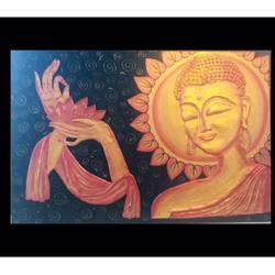 3d buddha , 36 x 24 inch, shital  pagey ,36x24inch,canvas,drawings,buddha drawings,paintings for living room,paintings for hotel,ceramic,GAL02908941159