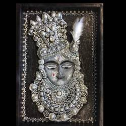 3d krishna shrinathji , 8 x 12 inch, shital  pagey ,8x12inch,hardboard,paintings,religious paintings,paintings for living room,paintings for hotel,acrylic color,ceramic,GAL02908941167