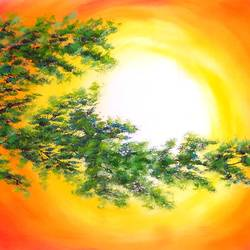 a branch of hope (sa109), 40 x 20 inch, sijo joseph,landscape paintings,paintings for living room,canvas,oil,40x20inch,GAL014234117