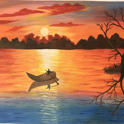 sunrise, 21 x 15 inch, akanksha p,21x15inch,canvas,landscape paintings,nature paintings | scenery paintings,paintings for dining room,paintings for living room,paintings for bedroom,paintings for office,paintings for bathroom,paintings for kids room,paintings for hotel,paintings for kitchen,paintings for school,paintings for hospital,paintings for dining room,paintings for living room,paintings for bedroom,paintings for office,paintings for bathroom,paintings for kids room,paintings for hotel,paintings for kitchen,paintings for school,paintings for hospital,acrylic color,GAL02908341177