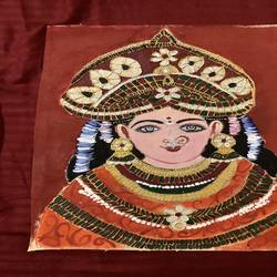 tanjore, 11 x 16 inch, pooja sinha,11x16inch,canvas,paintings,tanjore paintings,paintings for bedroom,paintings for bedroom,acrylic color,GAL02917241211